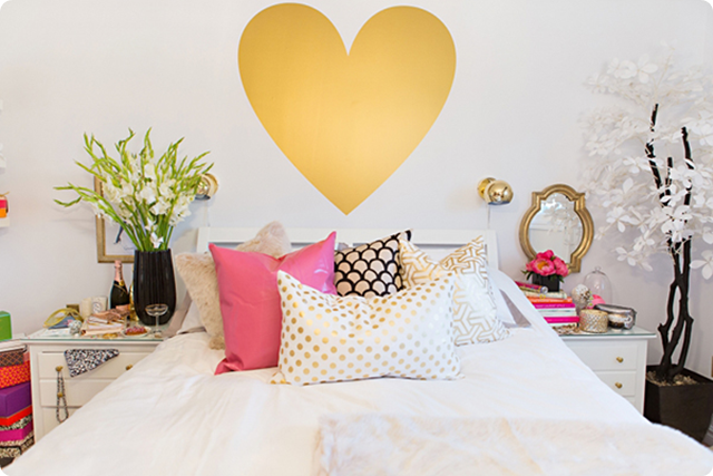 Decor Du Jour: Quarto Glam ♥